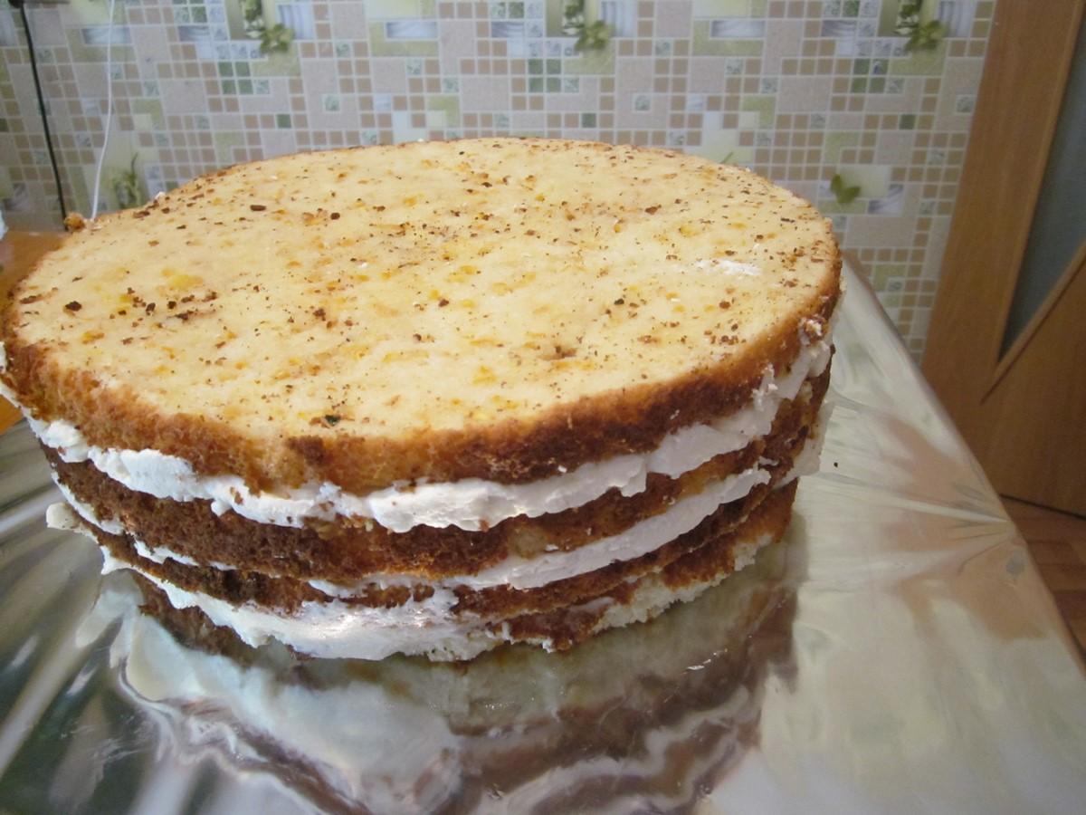 Пошаговое фото бисквитных тортов