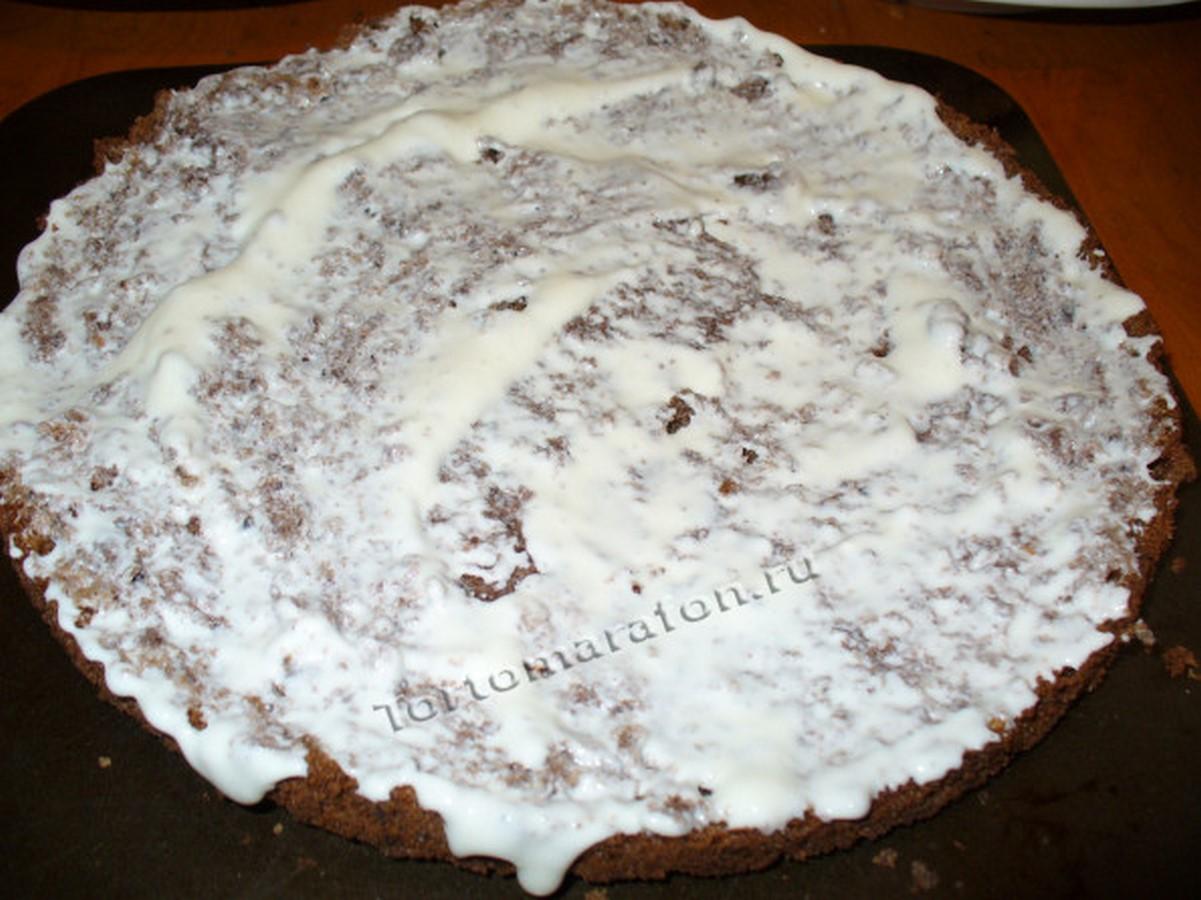 Торт графские развалины с безе пошаговый рецепт в домашних