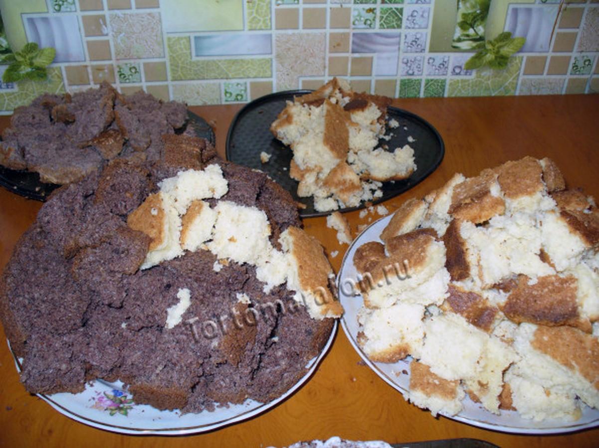 Торт графские развалины на сметане пошаговый рецепт с