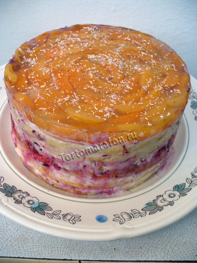 творожный торт на сковороде фото