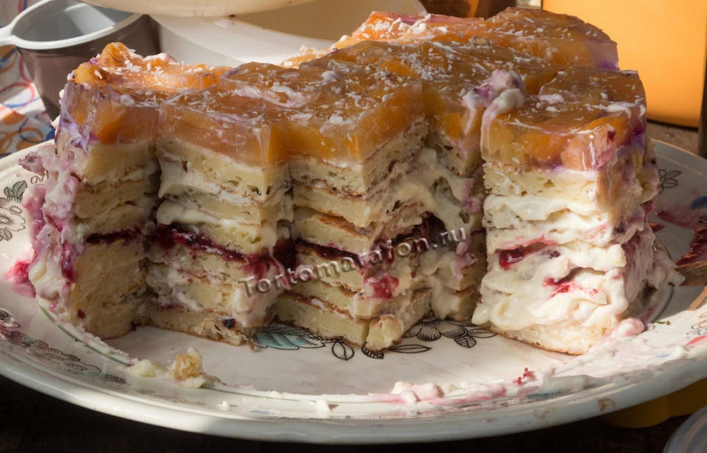 Торты на сковороде рецепт с пошаговым фото