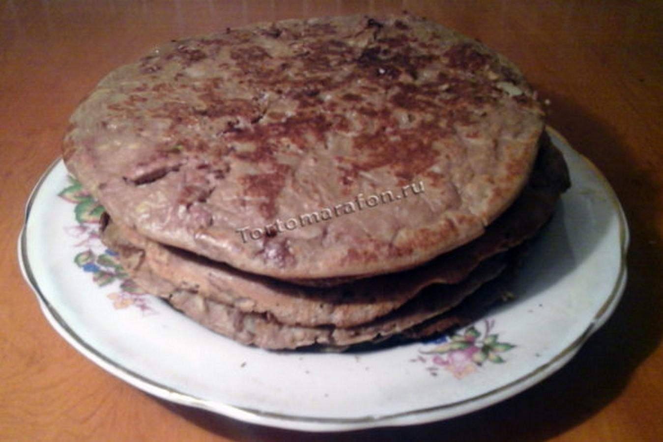 Торт печеночный из вареной говяжьей печени пошаговый рецепт