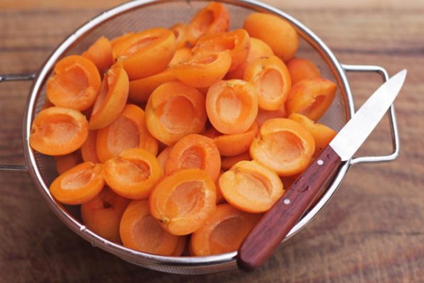 варенье из абрикосов дольками без косточек пятиминутка