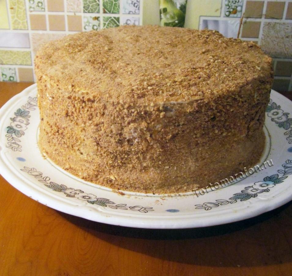 Торт медовик рецепт с фото пошагово в домашних условиях