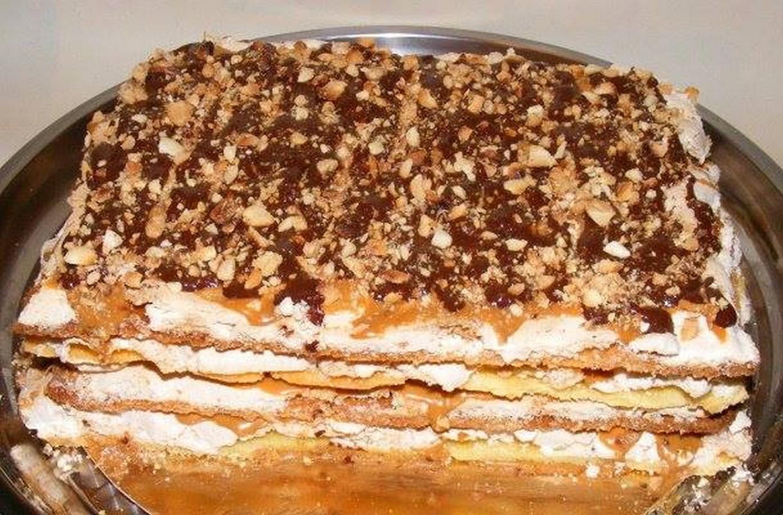 торт воздушный сникерс пошаговый рецепт