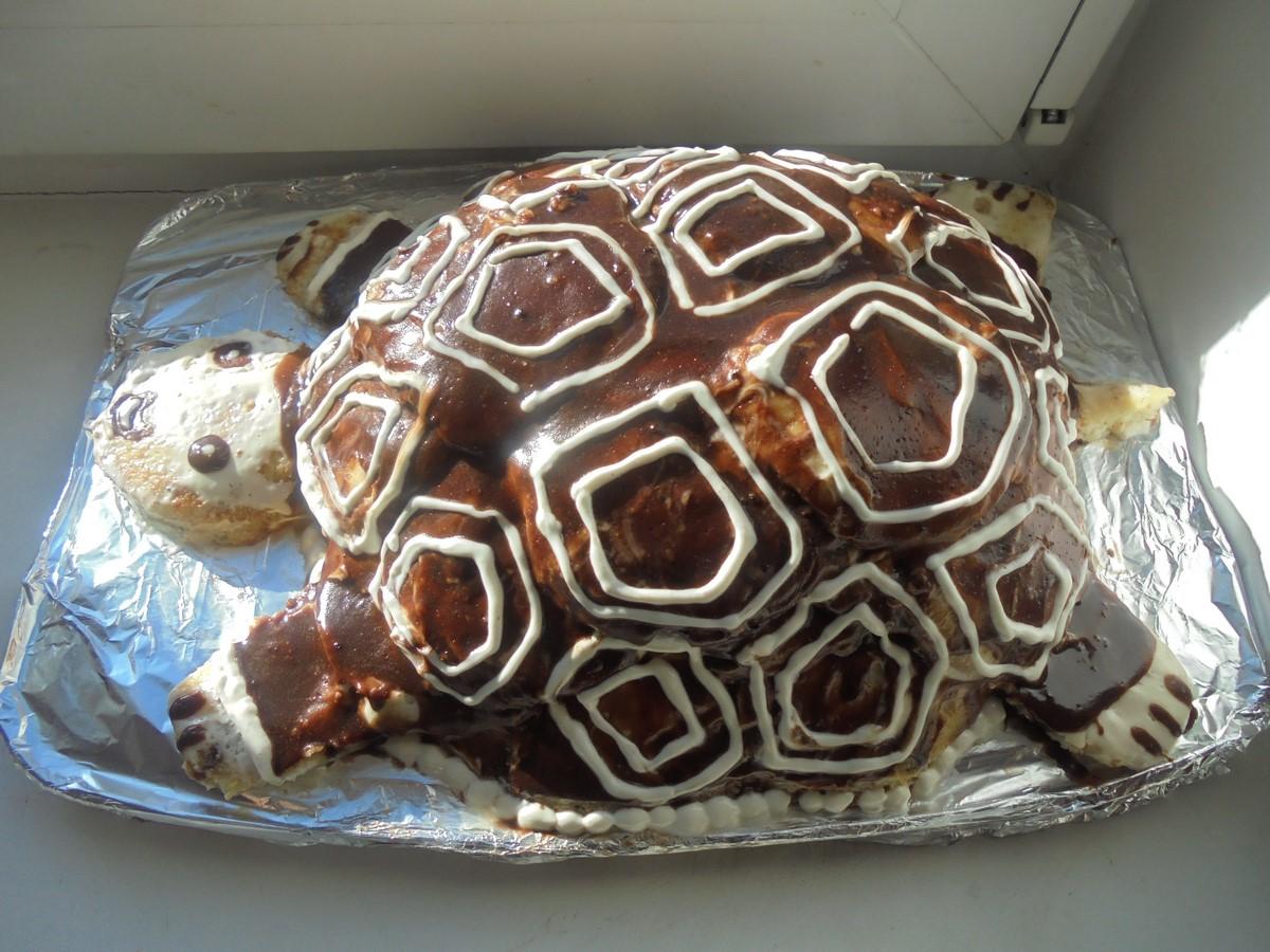 Торт черепаха с бананом пошаговый рецепт — 5
