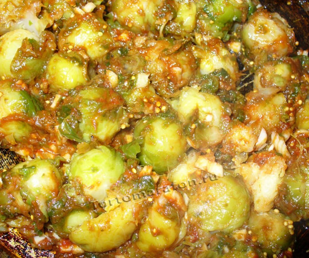 блюда из замороженной брюссельской капусты