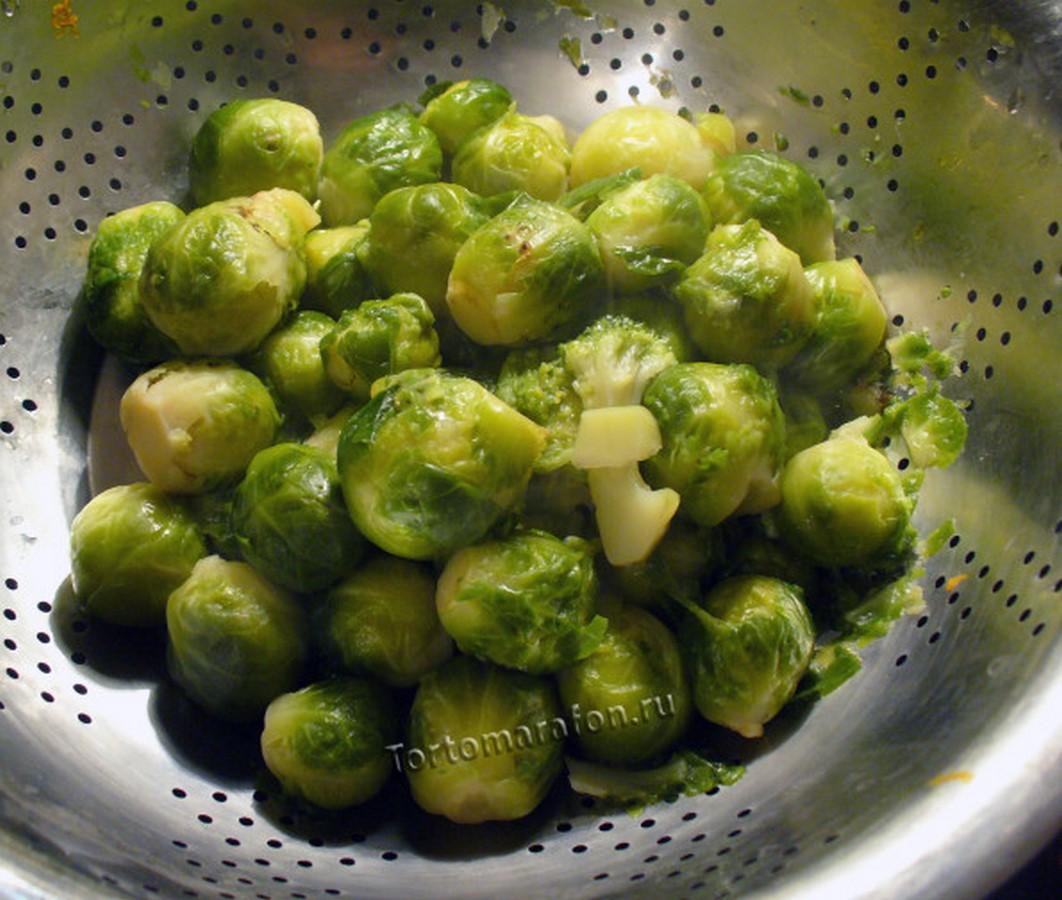 рецепты из брюсселькой капусты