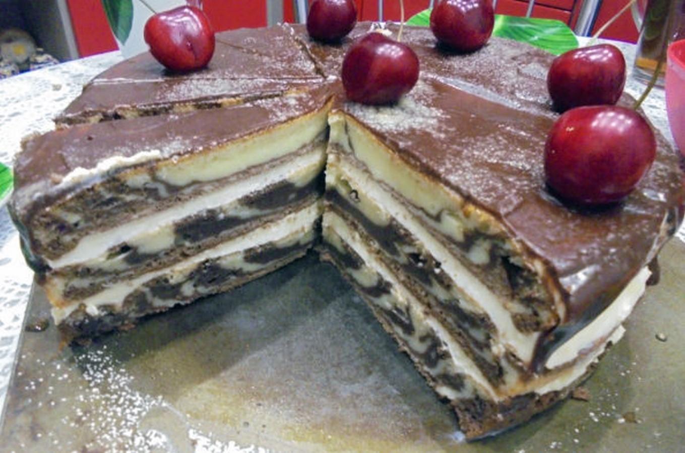 Сметанный торт зебра рецепт пошагово в домашних условиях 61