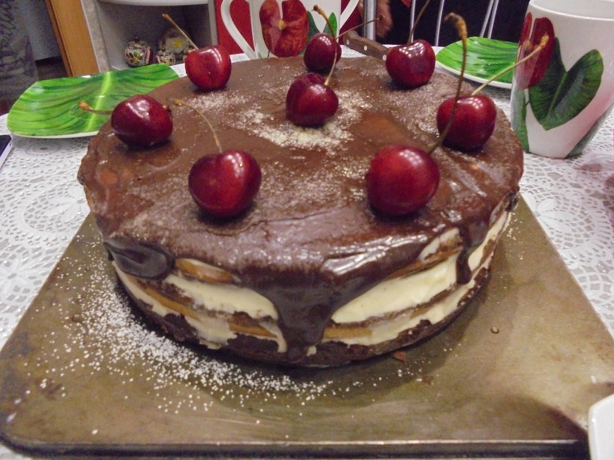Сметанный торт с вишней рецепт пошагово 159