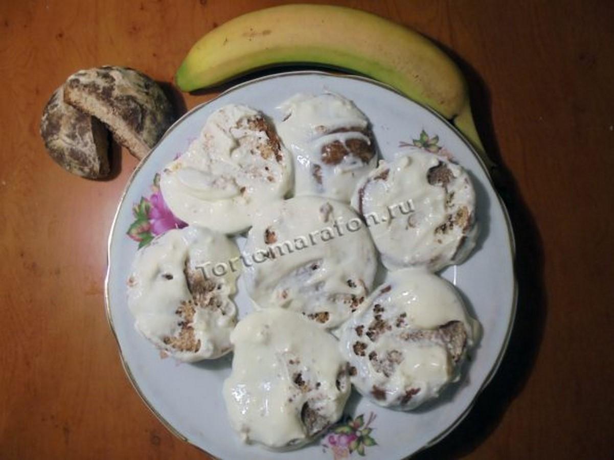 Торт из пряников и сметаны без выпечки - рецепт пошаговый с фото