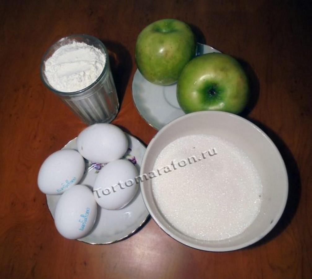 Пирог с яблоками простой рецепт пошагово в мультиварке