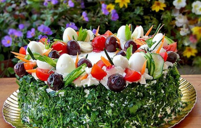 рецепты красиво украшенных салатов с фото для изучения подробных
