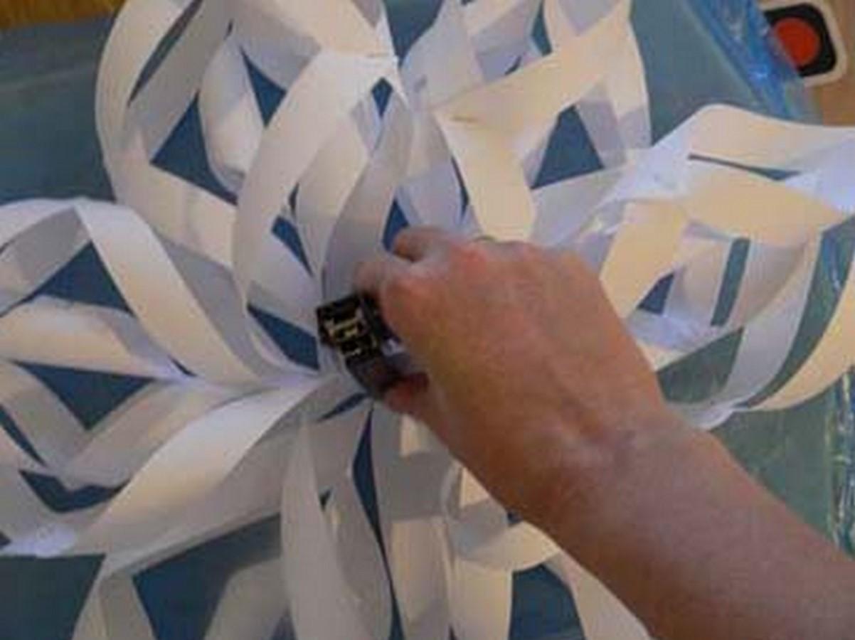 как сделать объемную снежинку своими руками tortomarafon.ru