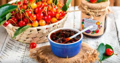 Варенье из черешни — 8 как приготовить черешневое варенье c косточкой и без