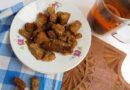 Сухарики с чесноком в духовке из черного хлеба