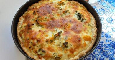 Открытый пирог с овощами. Как сделать киш из тыквы с фасолью и брокколи из готового слоеного теста