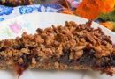 Тертый песочный вишневый пирог с вареньем в духовке