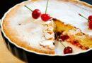 Пышная шарлотка со свежей или замороженной вишней — 5 рецептов в духовке и мультиварке