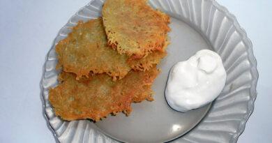 Классические картофельные драники без яиц и муки