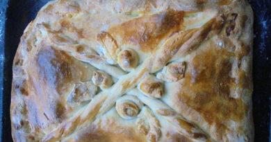 Пирог с капустой и грибами быстро и просто